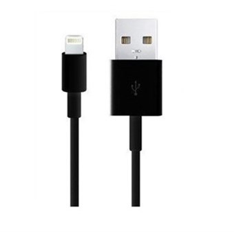 Apple iPad / iPhone / iPod Lightning USB-kabel Svart - 1 meter