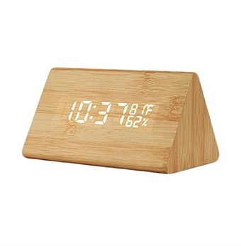 Woodlook Vekkerklokke   Digital klokke med LED lampe   Lave